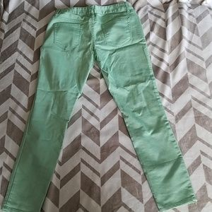 Mossimo Ankle Skinny Green Pants Size 7
